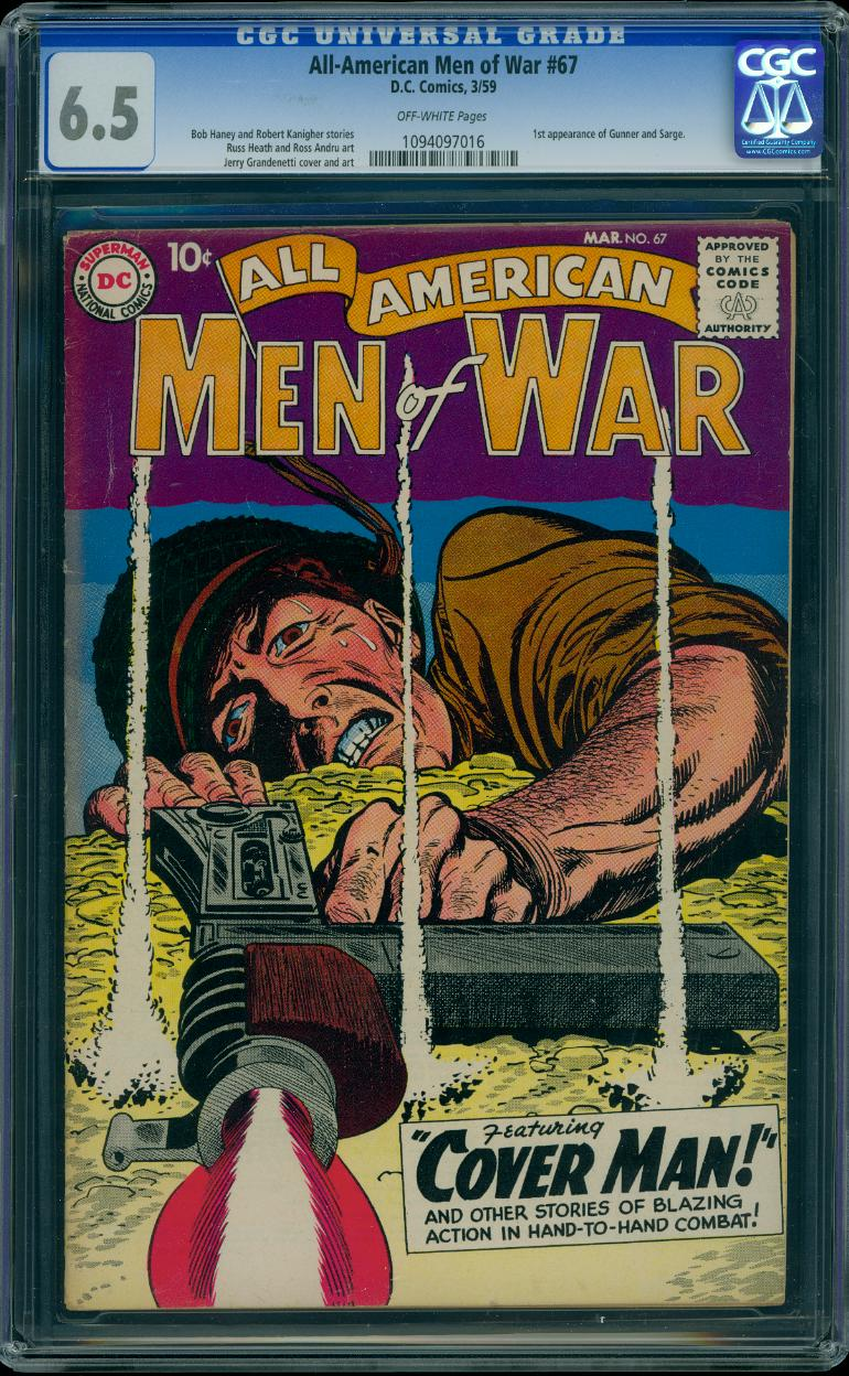 All American Men of War 67 CGC 6.5