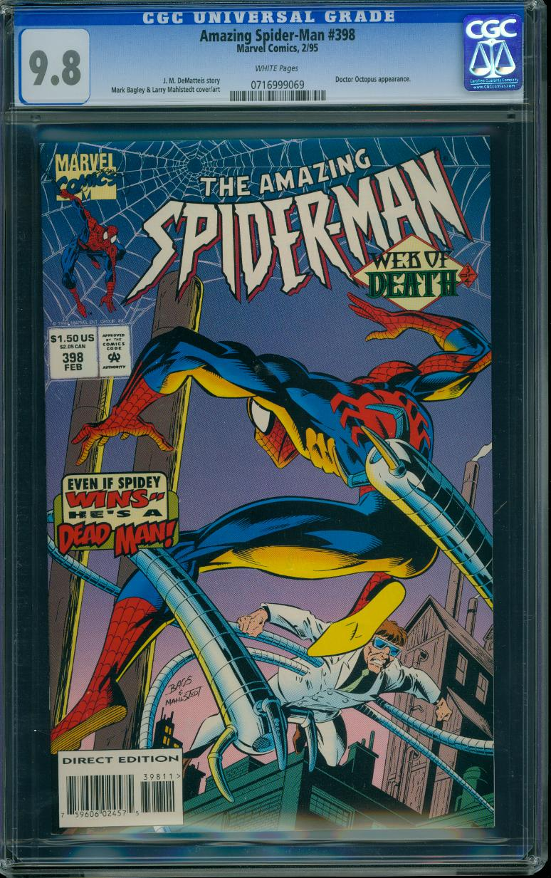 Amazing Spider-man 398 CGC 9.8