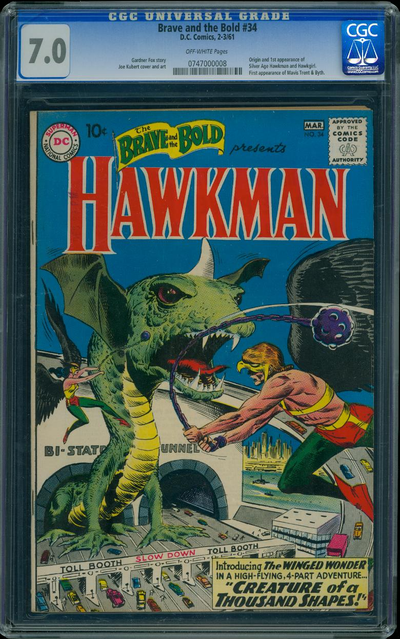 Brave and the Bold 34 CGC 7.0