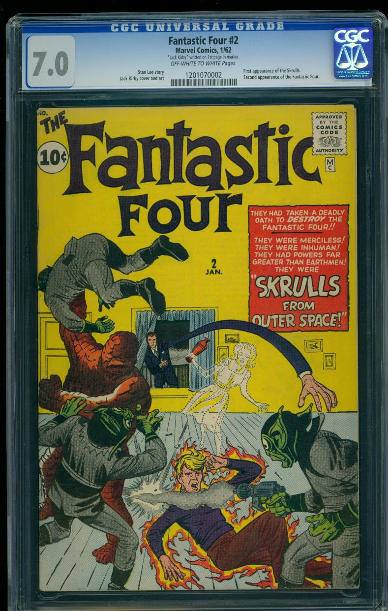 Fantastic Four 2 CGC 7.0 (Signed Jack Kirby)