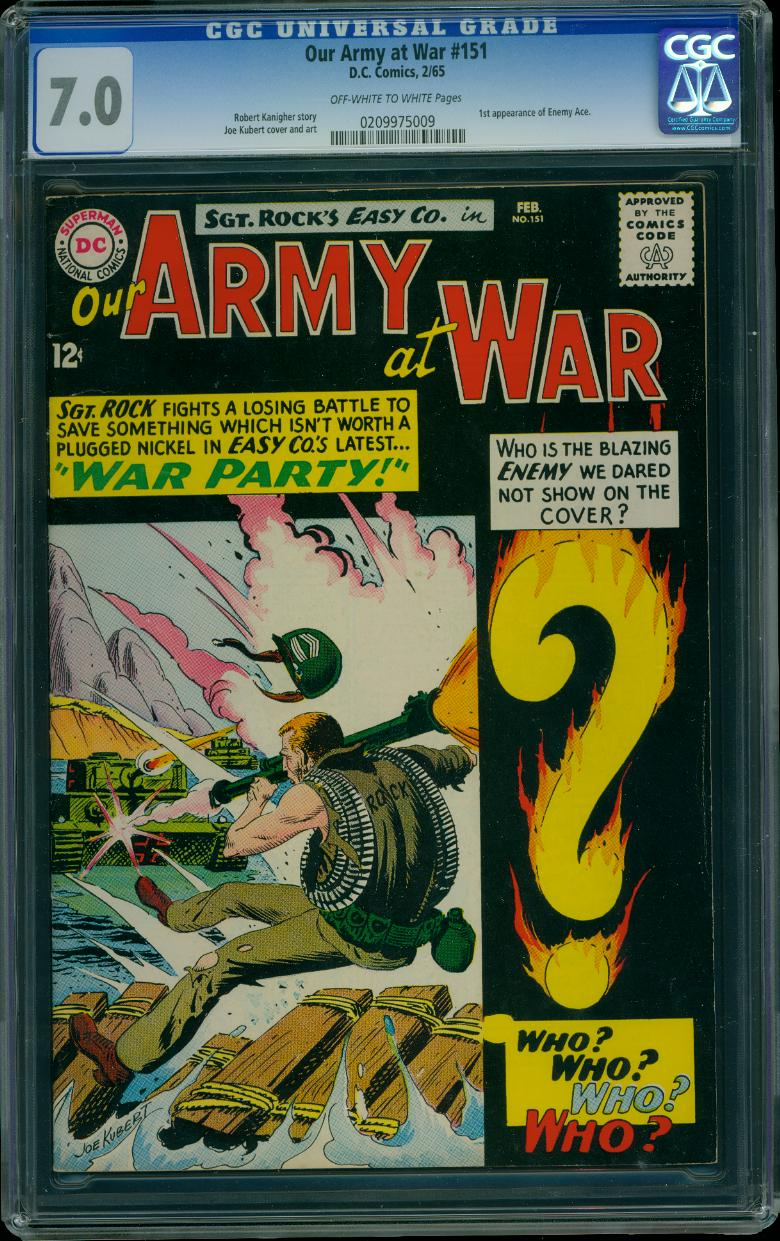 Our Army At War 151 CGC 7.0