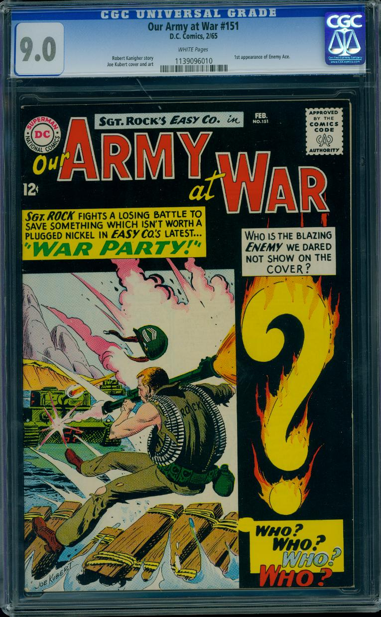 Our Army at War 151 CGC 9.0