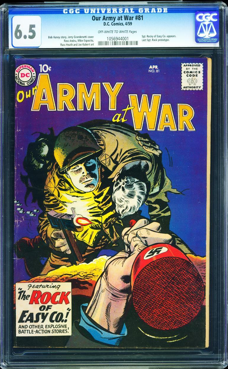 Our Army At War 81 CGC 6.5
