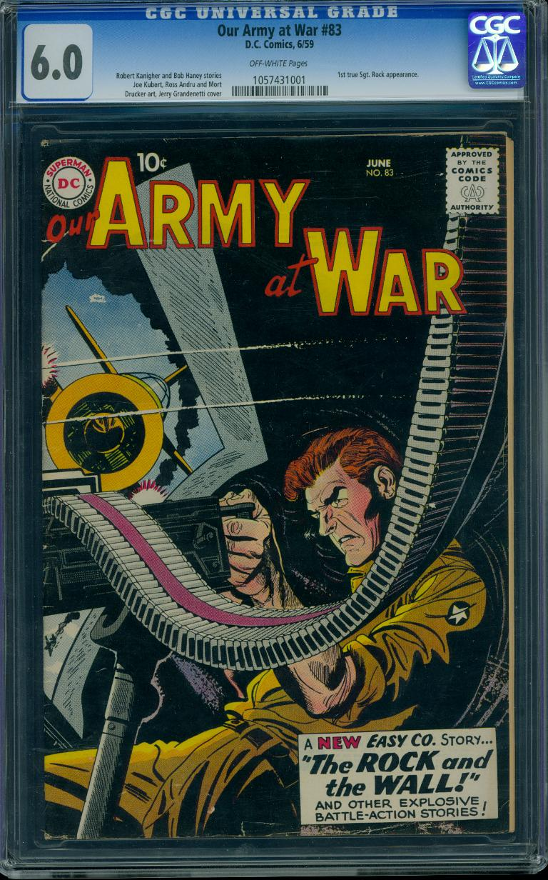 Our Army At War 83 CGC 6.0