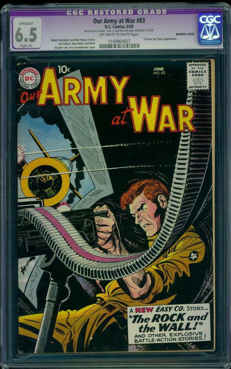 Our Army at War 83 CGC 6.5 (Married)