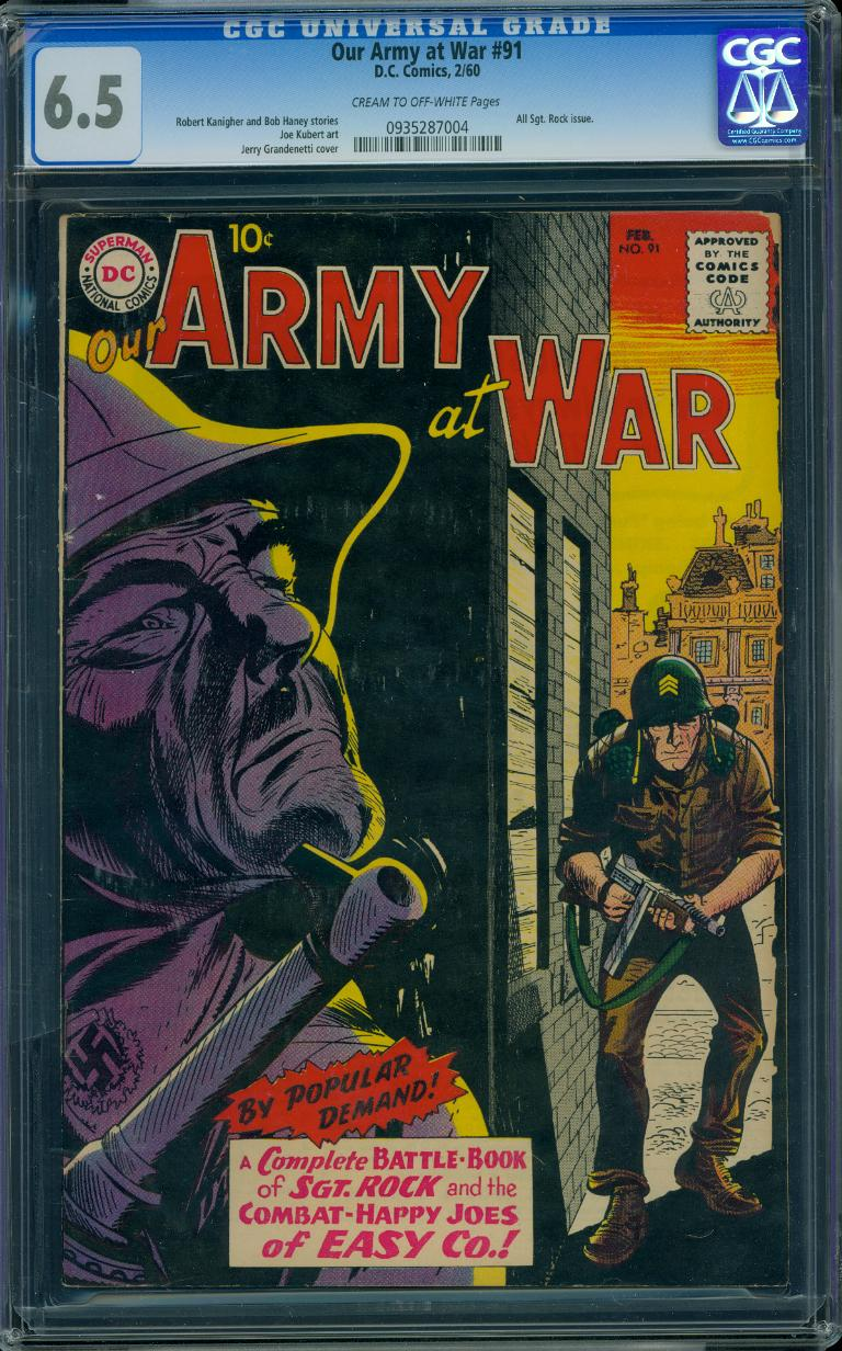 Our Army At War 91 CGC 6.5