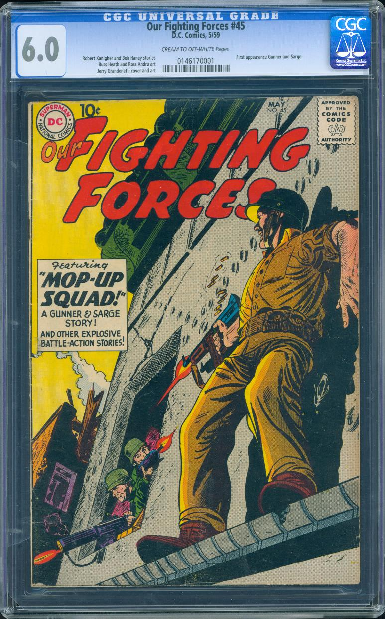Our Fighting Forces 45 CGC 6.0