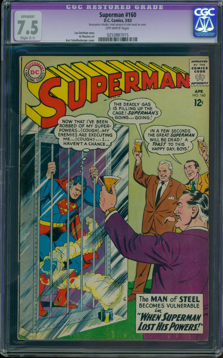 Superman 160 CGC 7.5 (Restored)