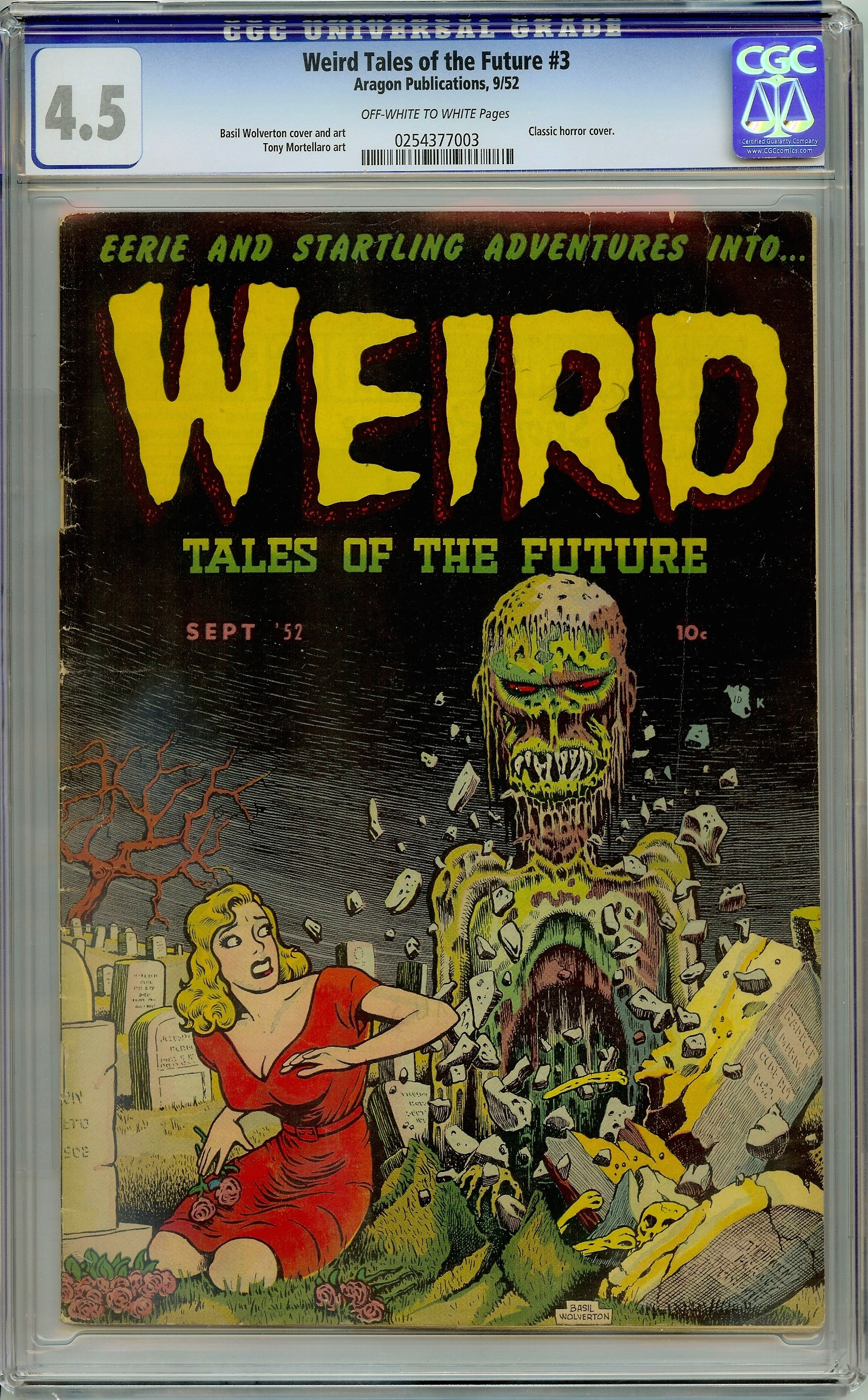 Weird Tales of the Future 3 CGC 4.5